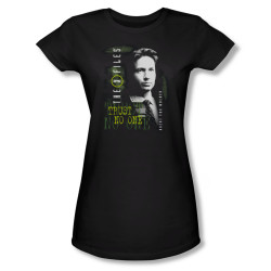 Image for X-Files Girls T-Shirt - Fox Mulder