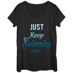 Image for Finding Dory Juniors Scoop Neck Heather Shirt - Keep Swimming