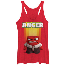 Image for Inside Out Womens Heather Tank Top - Anger