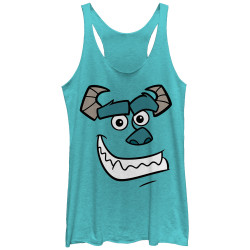Image for Monsters U Womens Heather Tank Top - Sully's Face