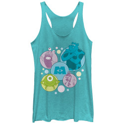 Image for Monsters Inc Womens Heather Tank Top - Bubble Monsters