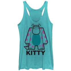 Image for Monsters U Womens Heather Tank Top - Kitty Lines