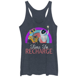 Image for Wall E Womens Heather Tank Top - Recharge