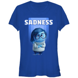 Image for Inside Out Juniors T-Shirt - Sadness