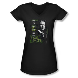 Image for X-Files Girls V Neck T-Shirt - Dana Scully