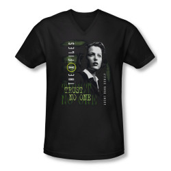 Image for X-Files T-Shirt - V Neck - Dana Scully