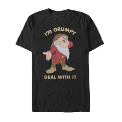 Image for Snow White T-Shirt - I'm Grumpy Deal With It