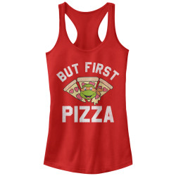 Image for Teenage Mutant Ninja Turtles Womens Tank Top - But First Pizza