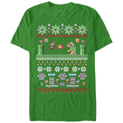 Image for Mario Bros. Xmas Stack Premium T-Shirt