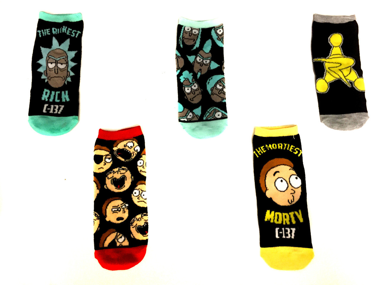 Cut - Low Rick Characters Nerdkungfu And com Pack 5 Socks Morty