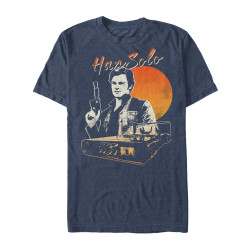 Image for Solo: A Star Wars Story Solo Smirk Heather T-Shirt
