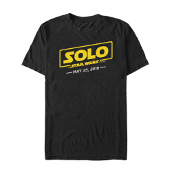 Image for Solo: A Star Wars Story T-Shirt - Logo with Date