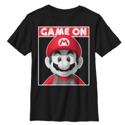 Image for Mario Bros Youth T-Shirt - Game On