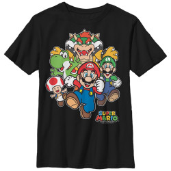 Image for Mario Bros Youth T-Shirt - Start Race