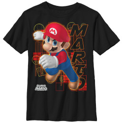 Image for Mario Bros Youth T-Shirt - Candy Red