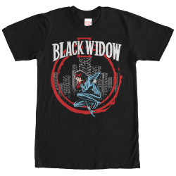 Image for Black Widow In Circle T-Shirt