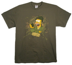 Image Closeup for Simpsons Medal of Honor T-Shirt