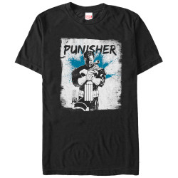 Image for The Punisher In Grunge T-Shirt