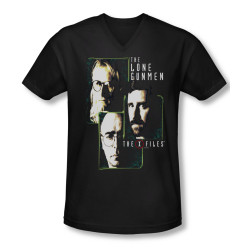 Image for X-Files T-Shirt - V Neck - The Lone Gunmen