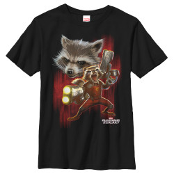 Image for  Guardians of the Galaxy Youth T-Shirt - Angry Rocket