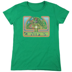 Image for Atari Womans T-Shirt - Centipede Green
