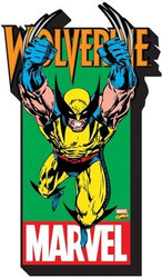 Image for Wolverine with Logo Chunky Magnet