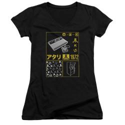 Image for Atari Girls V Neck - Classic Kanjii Squares