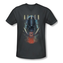 Image for Alien T-Shirt - V Neck - Bloody Jaw