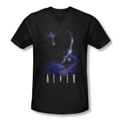 Image for Alien T-Shirt - V Neck - In Space