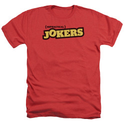Image for Impractical Jokers Heather T-Shirt - Red Logo
