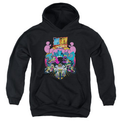 Image for Teen Titans Go! Youth Hoodie - Go to the Movies Burst Through