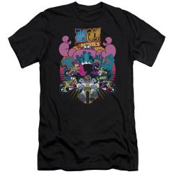 Image for Teen Titans Go! Premium Canvas Premium Shirt - Go to the Movies Burst Through