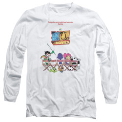 Image for Teen Titans Go! Long Sleeve T-Shirt - Go to the Movies Poster