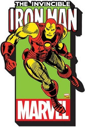 Image for Iron Man with Logo Chunky Magnet