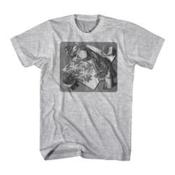 Image for M.C. Escher T-Shirt - Repeating Reptiles