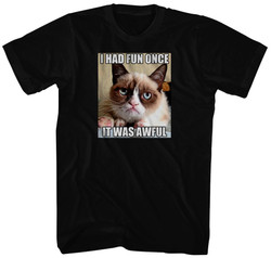 Image for Grumpy Cat T-Shirt - Fun Once