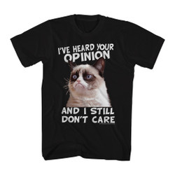 Image for Grumpy Cat T-Shirt - Cat Opinion