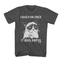 Image for Grumpy Cat T-Shirt - One Color Fun