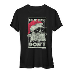 Image for Grumpy Cat Feliz Navi Don't Girls T-Shirt