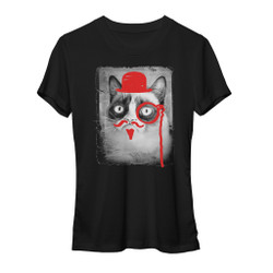 Image for Grumpy Cat Defaced Grumpy Girls T-Shirt
