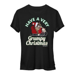 Image for Grumpy Cat Have a Grumpy Christmas Girls T-Shirt
