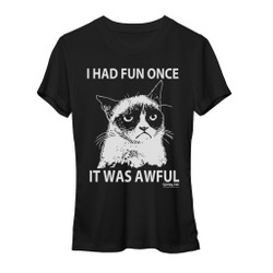 Image for Grumpy Cat One Color Fun Girls T-Shirt