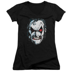 Image for Lobo Girls V Neck T-Shirt - Face