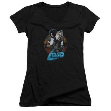 Image for Lobo Girls V Neck T-Shirt - Lobo's Back