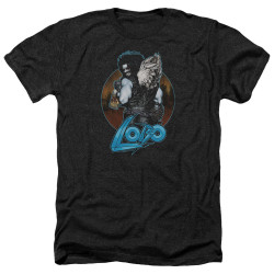 Image for Lobo Heather T-Shirt - Lobo's Back