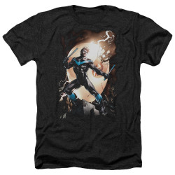 Image for Batman Heather T-Shirt - Nightwing Against Owls