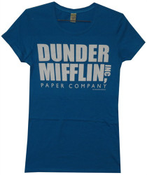Image Closeup for The Office Dunder Mifflin Girls T Shirt