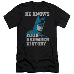 Image for Batman Premium Canvas Premium Shirt - Batman Knows