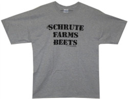 Image Closeup for The Office Schrute Farms Beets T-Shirt