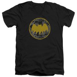 Image for Batman V-Neck T-Shirt - Vintage Symbol Collage